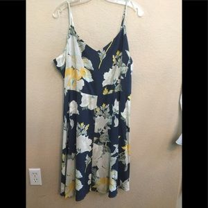 GAP Blue and Yellow Flair Dress